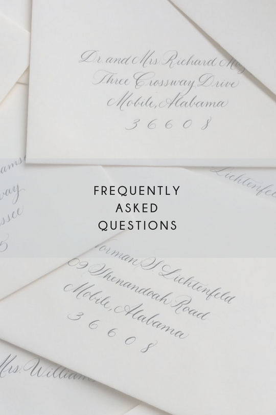 FAQ grace calligraphy
