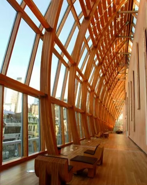 Gehry's AGO expansion. Alternatively put, the facade that feels like you're inside an immobile boat. // Image: unknown