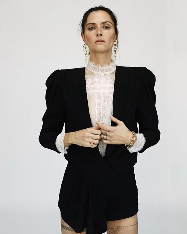 Tasha Tilberg, demonstrating our preferred version of the refined Canadian tuxedo. // Image: Damien Krisl
