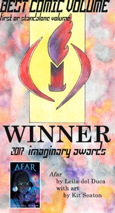 2017 - Winner! Afar by Leila del LucaKindred: A Graphic Novel Adaptation by Damian DuffyArclight by Brandon GrahamAbove the Timberline by Gregory ManchessThe Witch Boy by Molly Ostertag