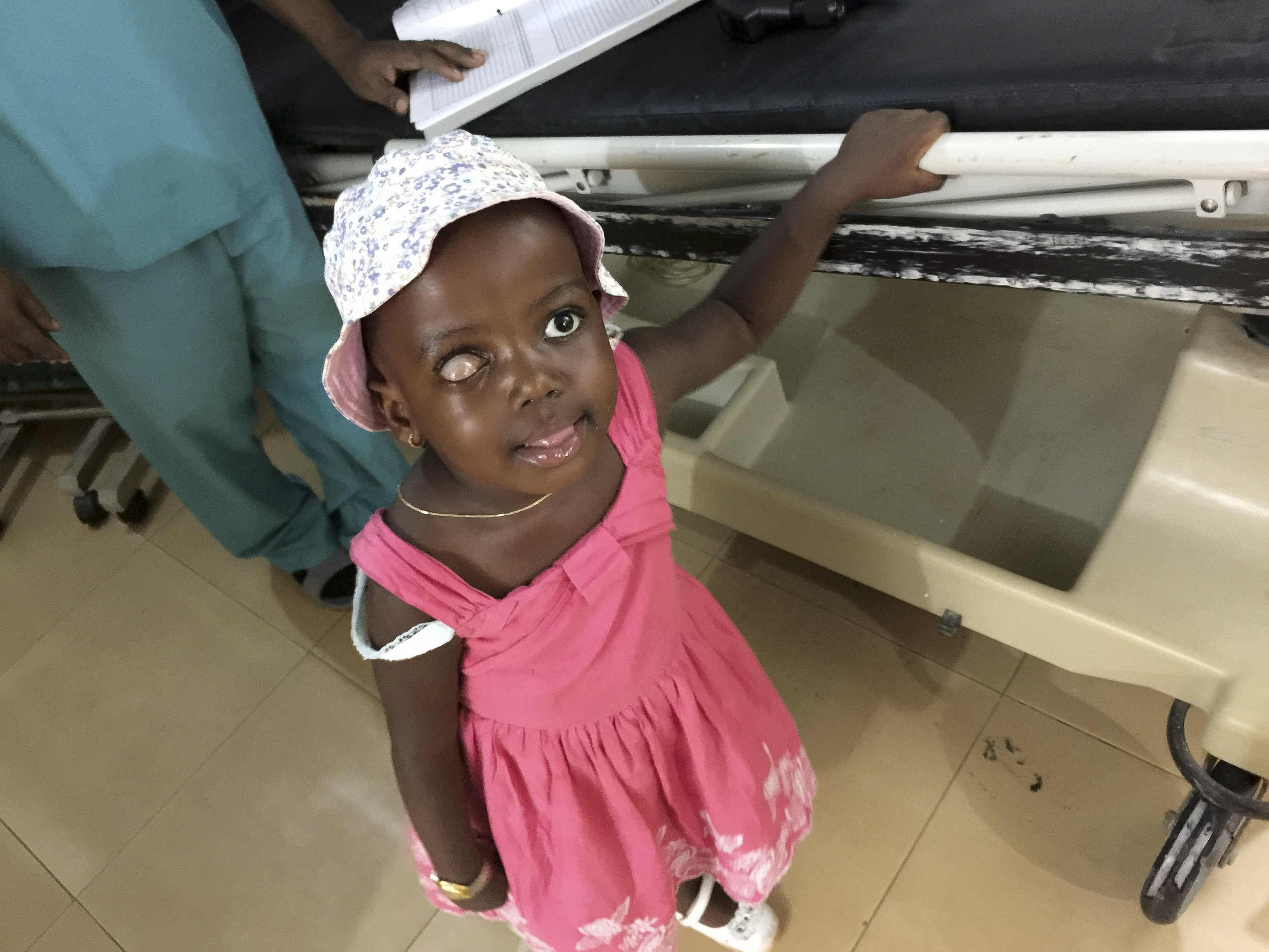 She was all smiles, saying hi to everyone in clinic.