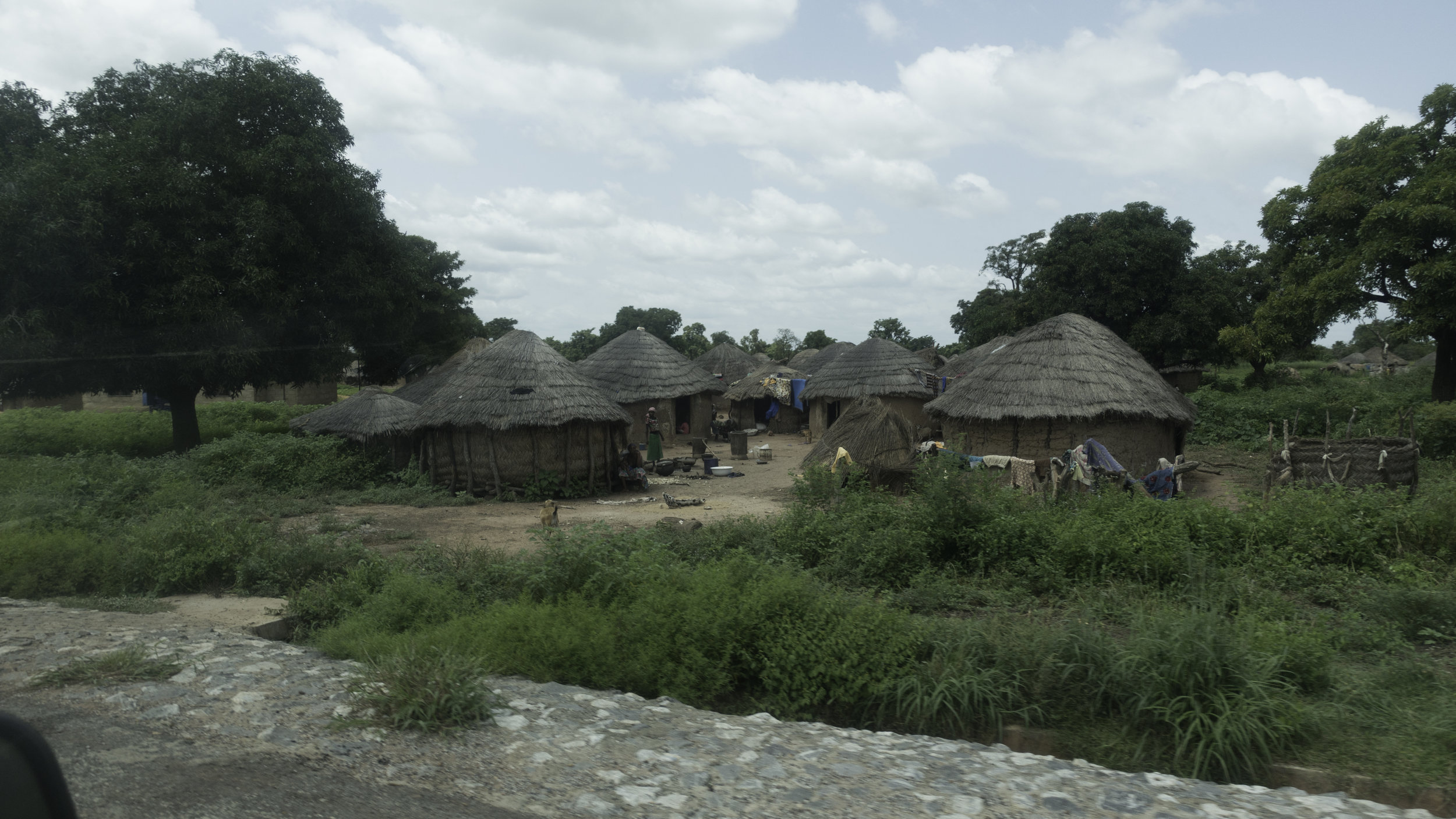 Villages like this are common to see on our drive up to the northern part of the country.