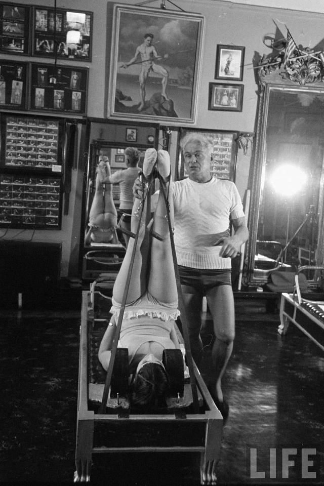 "Image Credit:  1951 LIFE Magazine, ""Diva with Muscle"" Joseph Pilates & Roberta Peters"