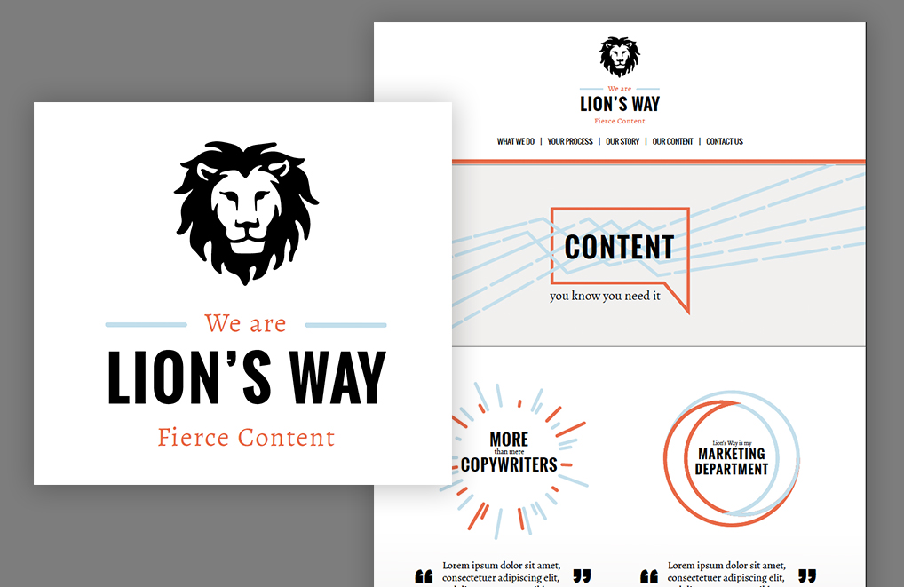Lion's Way - Rebrand of one of my favorite content agencies.