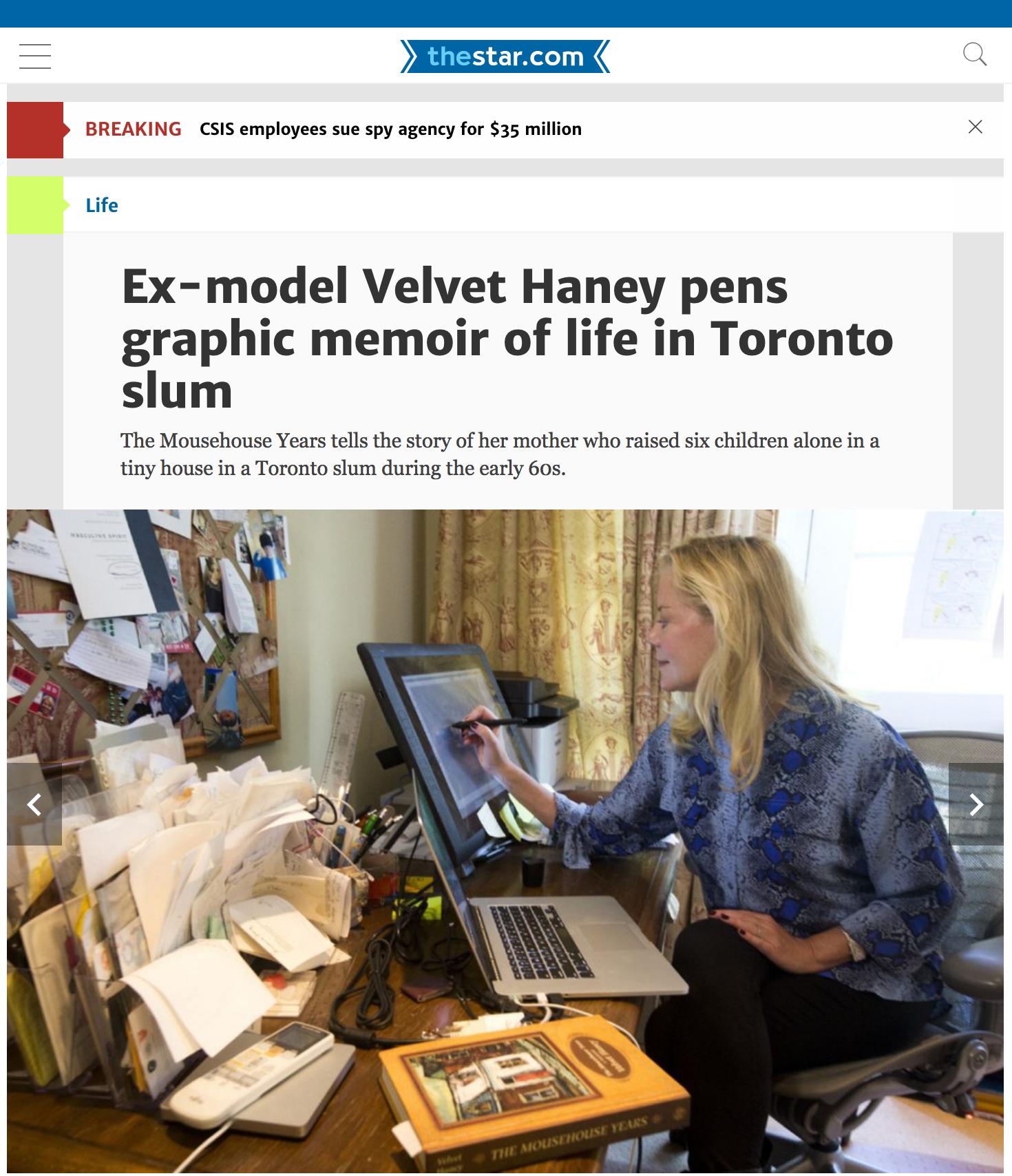 Velvet Haney featured in The Star