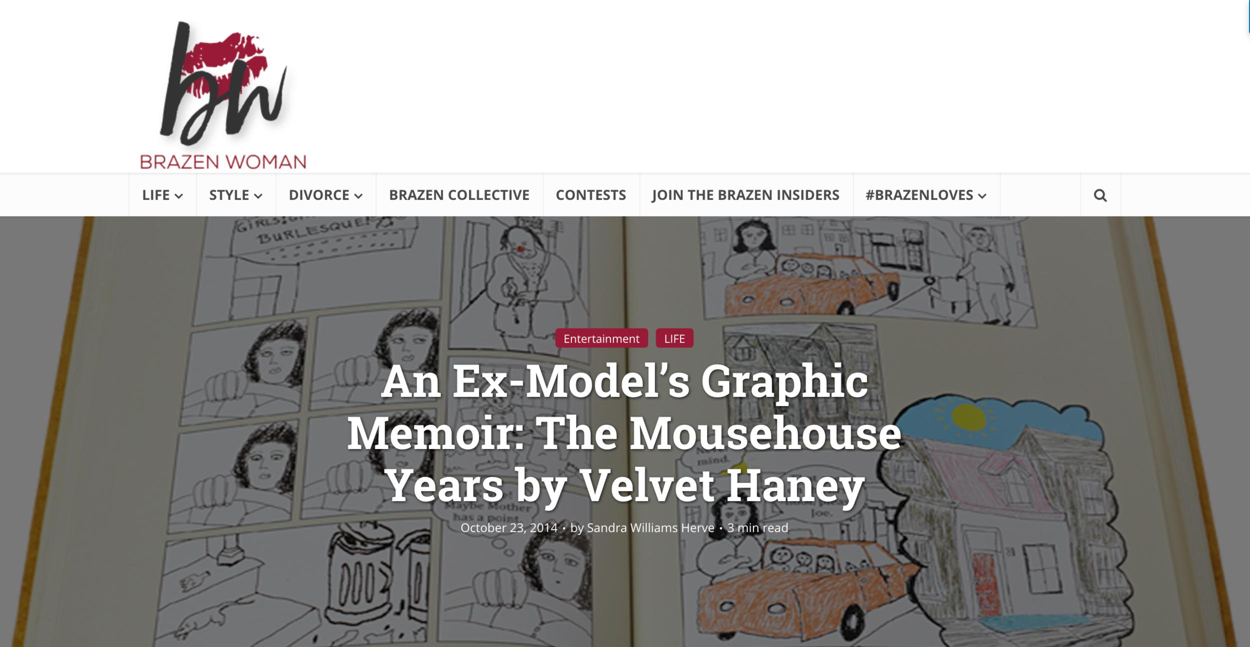Ex-Model Velvet Haney's Graphic Memoir The Mousehouse Years featured in Brazen Woman