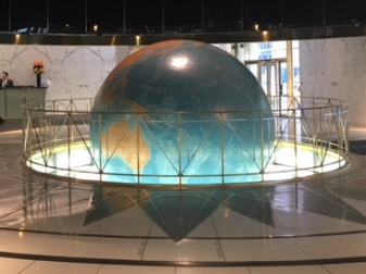 That time Lauren & Jesi saw the REAL Daily Planet!  (Daily News Building, home of Antenna TV, NYC)