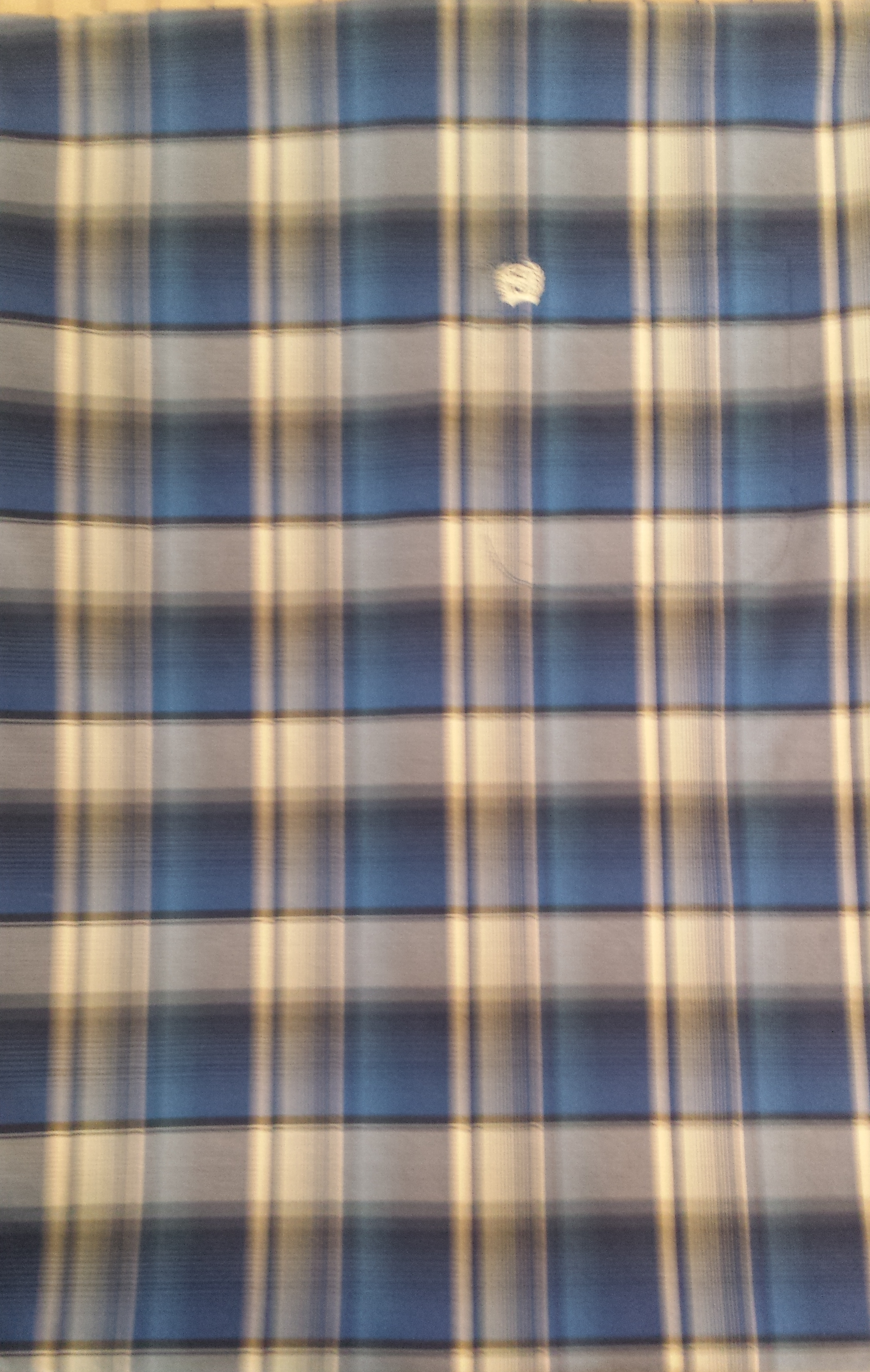 Back side of Pillow Case made From Western Shirts