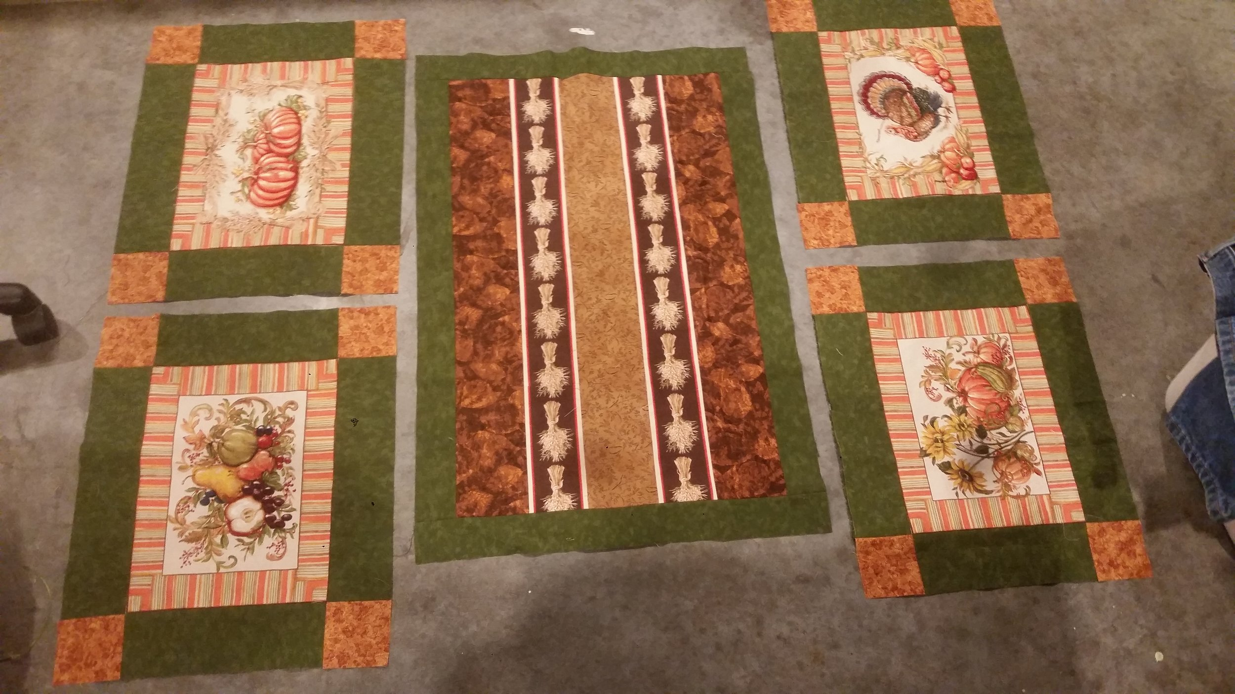 Autum Place mats and table runner