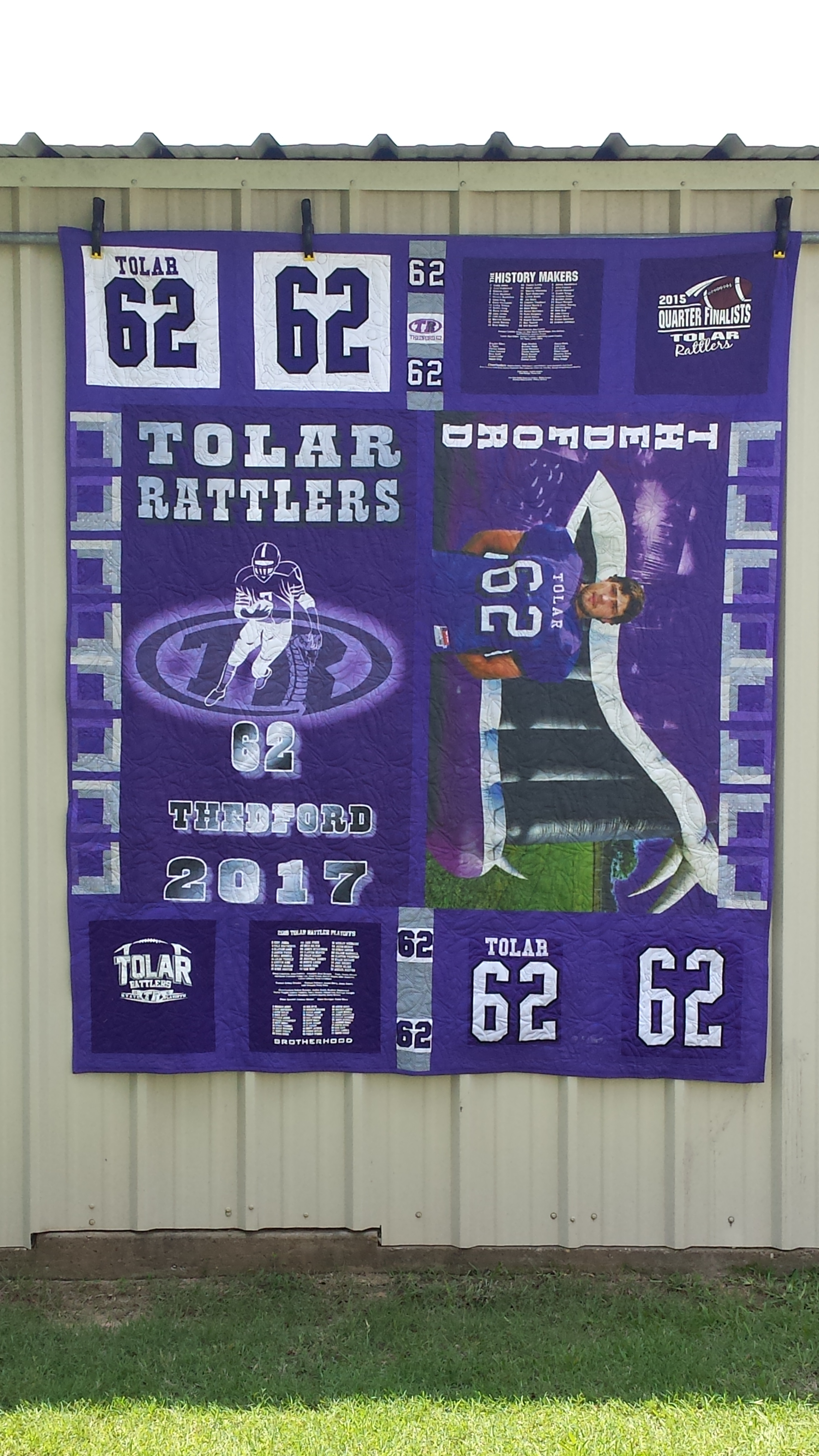 Senior Flags and Jersey's Quilt