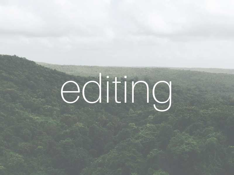 Editing of creative and academic writing on a per hour basis or set project fee (negotiable).*$39 an hour -