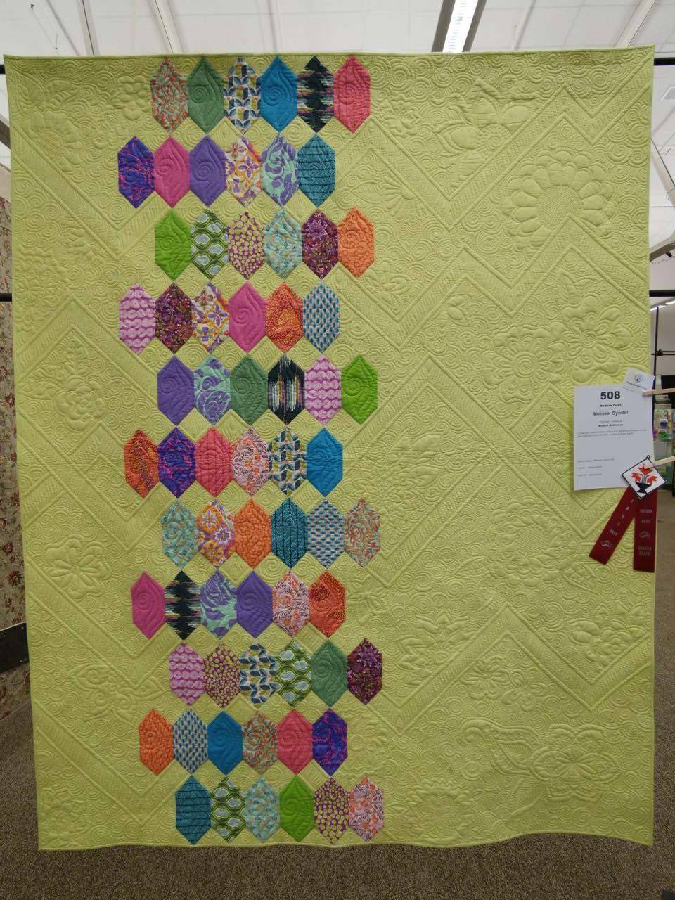 Modern Brilliance - 2nd Place, Modern Quilts
