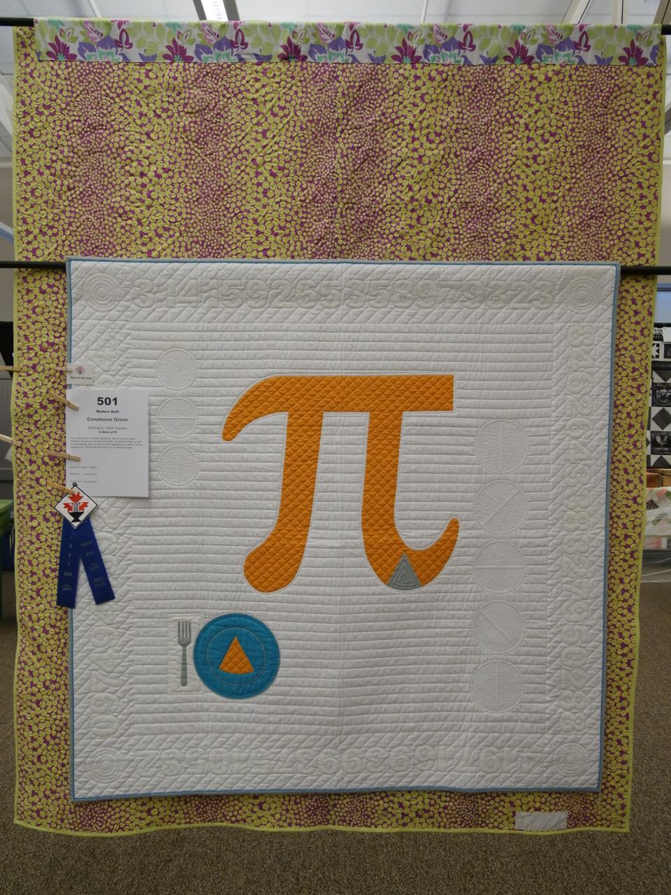 A Slice of Pi - 1st Place, Modern Quilts