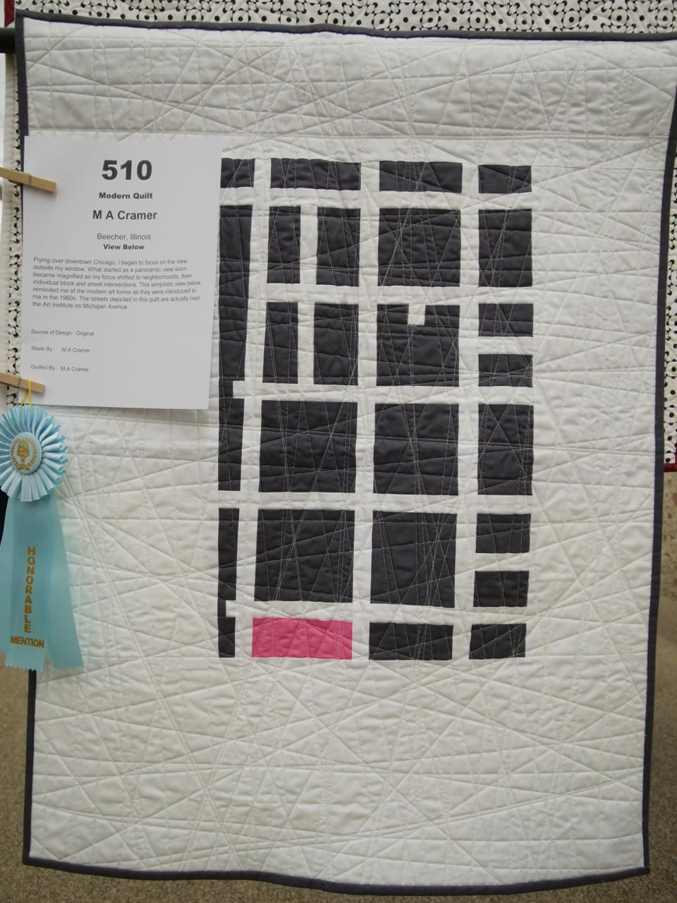 View Below - Honorable Mention, Modern Quilts