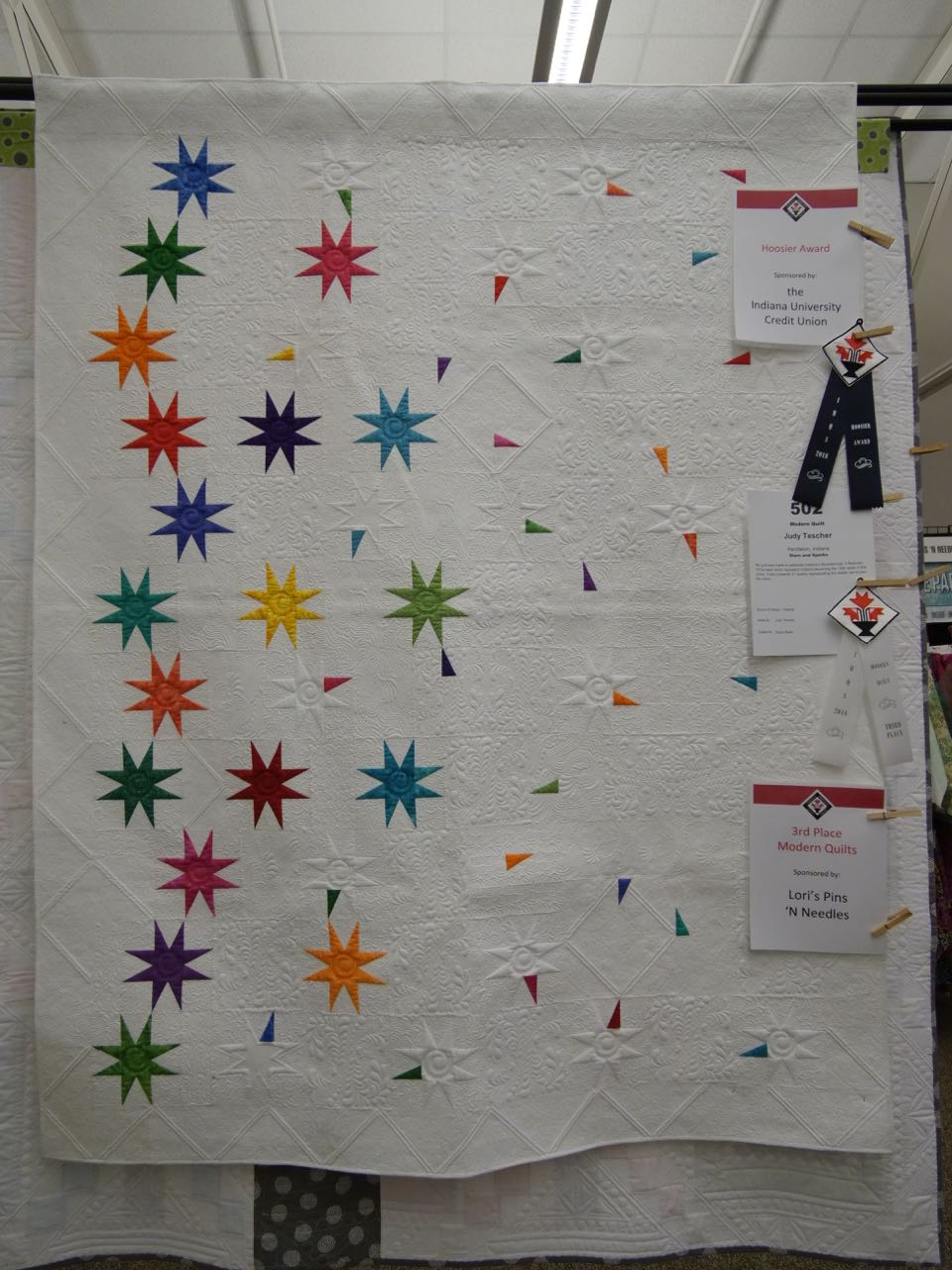 Stars and Sparks - 3rd Place, Modern Quilts
