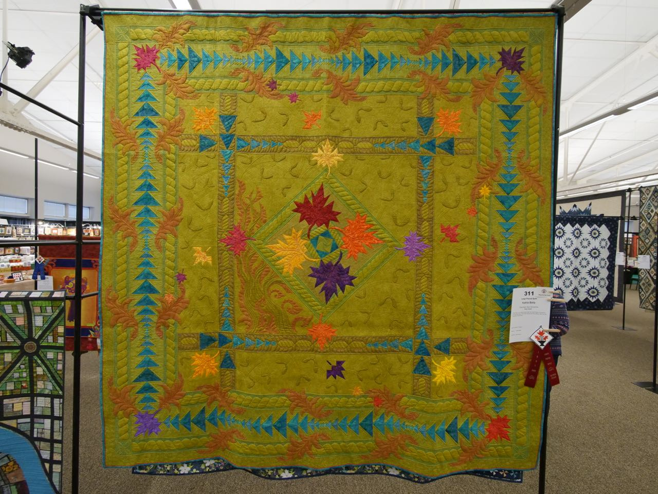 Free Fallin' - 2nd Place, Large Pieced Quilts