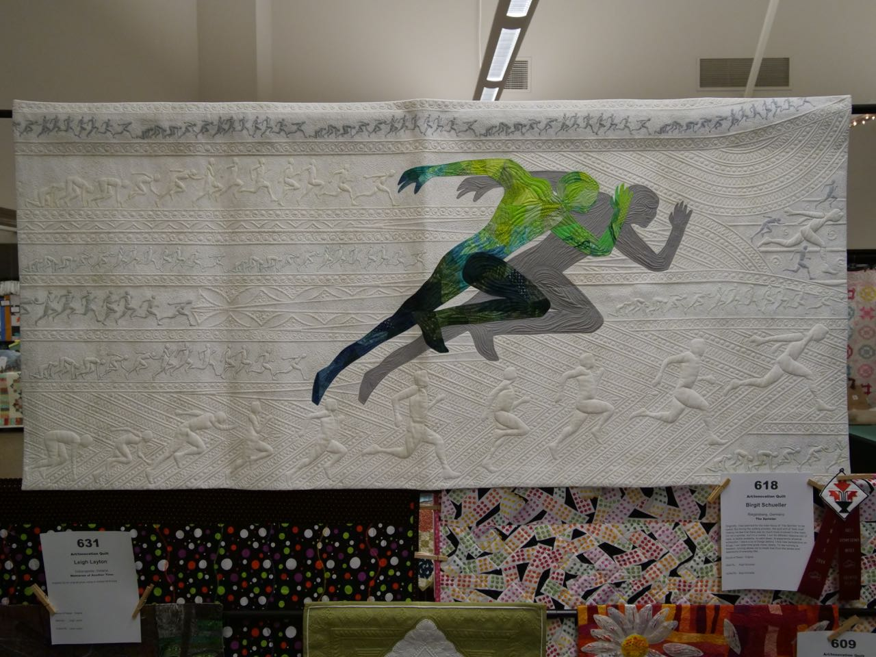 The Sprinter - 2nd Place, Art/Innovation Quilts