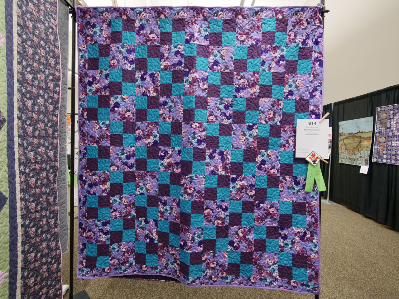 Rylee's Purple Pansies - Young Quiltmaker