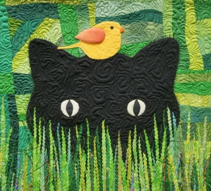 """Lisa Dodson's """"Kitty on the Green"""" from 2019 show"""