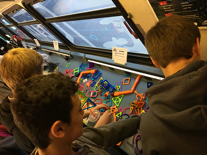Exploration aboard the STEM Bus - Boise, ID