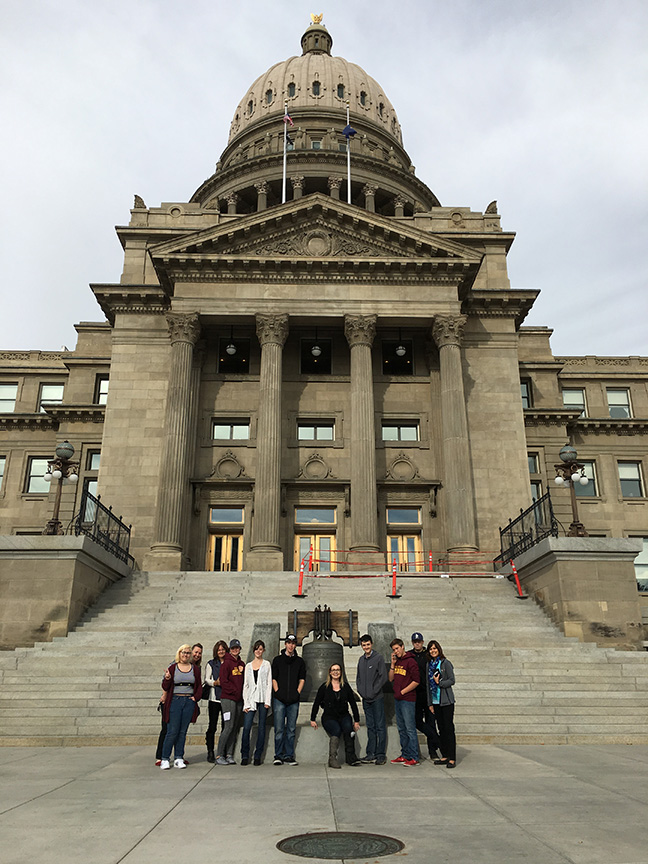 North Idaho students visit the State Capitol in between employer visits - Boise, ID