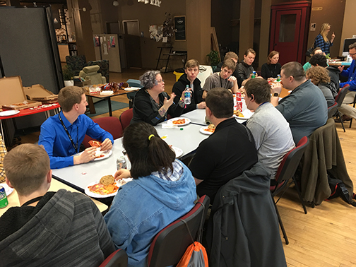 Round table discussion with some well-known gamers at Hackfort - Boise, ID
