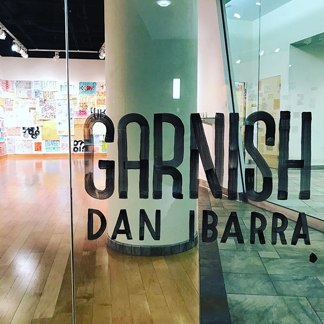 "This Thursday, 6-8pm, at @augsburg_art_galleries Gage Gallery, the opening reception for the solo exhibition ""GARNISH."" It's a generous heaping of preliminary lettering practice collected over the past couple years, coated by a layer of new print work, a dash of test prints, and on top a small sprig of the years of calendar prints created for @twobettysgreenclean —which have never really gotten the chance to be shown as a whole. It's different work than I've done in the past, and I'm excited to share it all with you. I hope to see you there."
