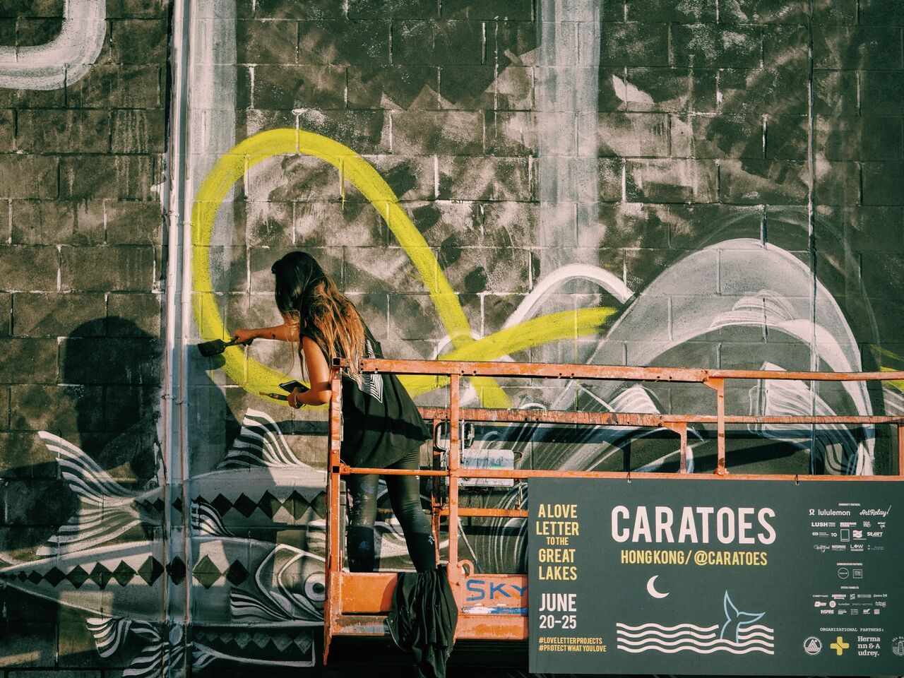 Caratoes joined us from Hong Kong for   A Love Letter to the Great Lakes   where we added several new murals to the hood.
