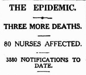 Daily Mail (Brisbane, Qld. 1903 - 1926), Saturday 24 May 1919, page 7 - Epidemic, 80 Nurses Affected - 1.jpg