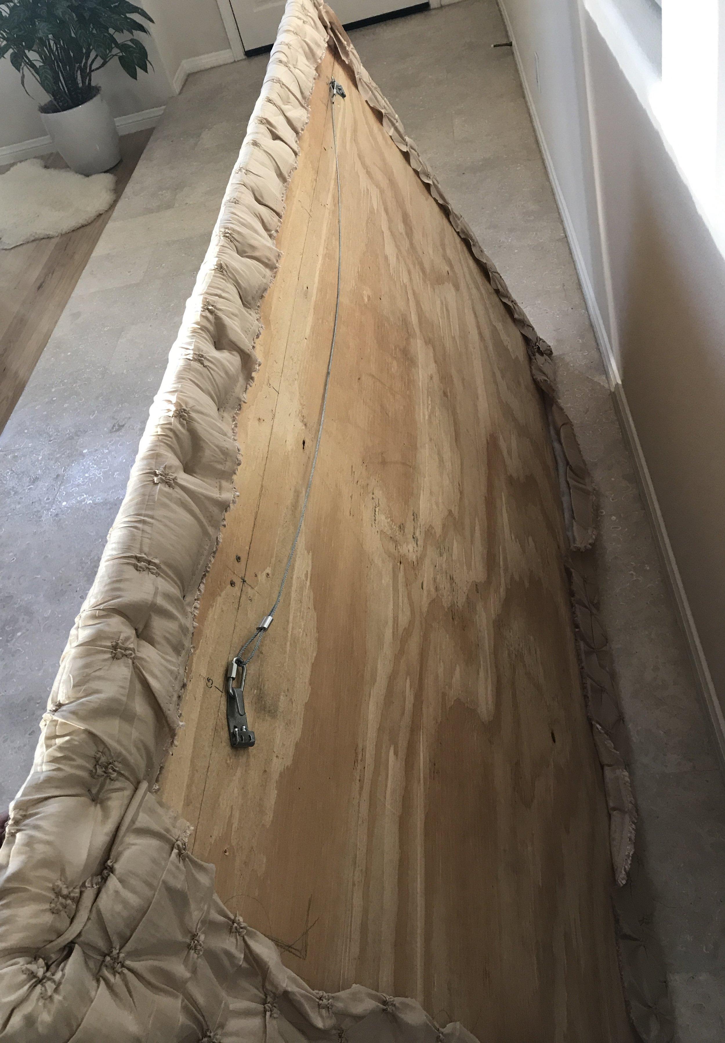 DIY Headboard - back