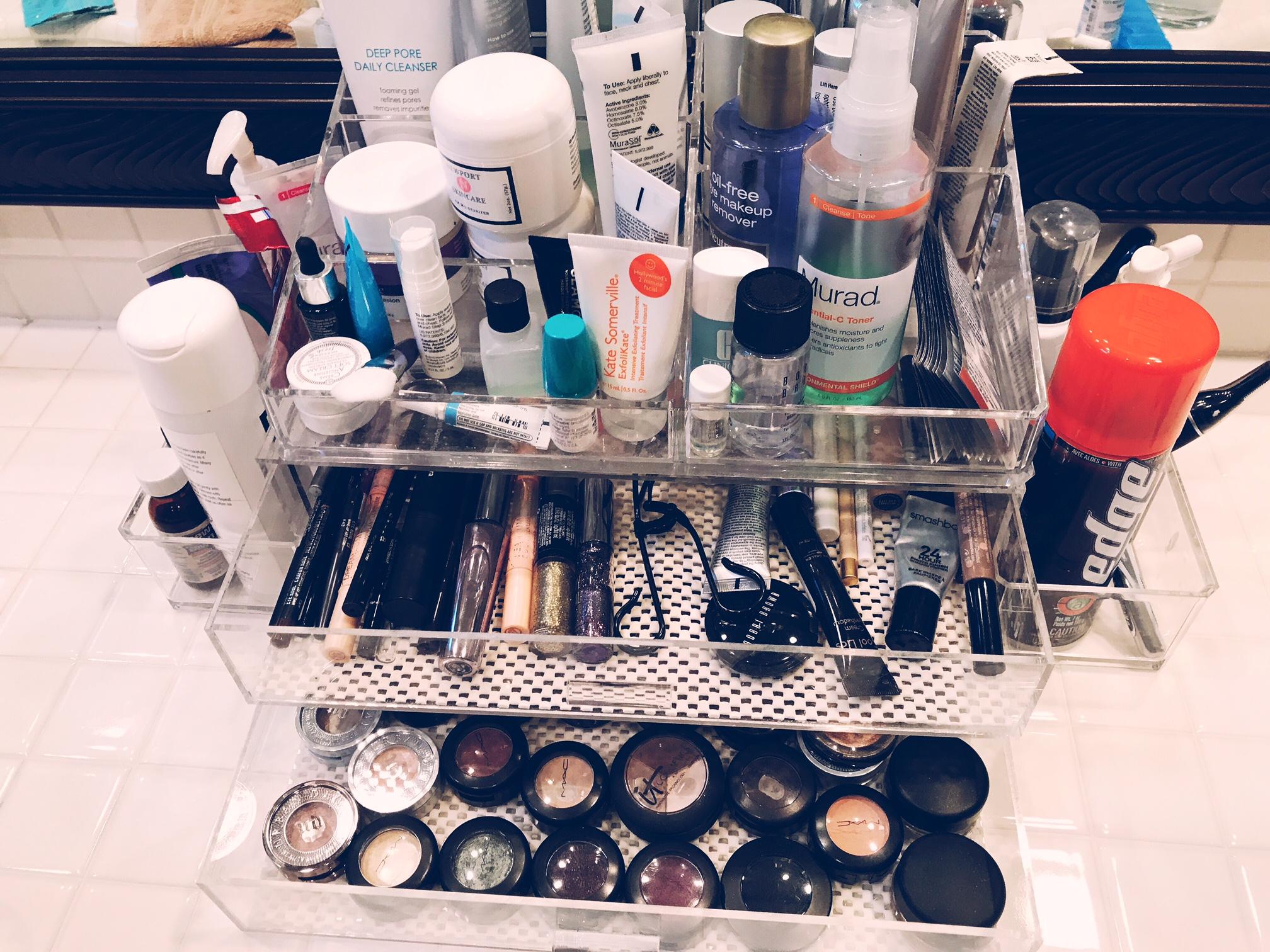 Acrylic organizer drawers and trays