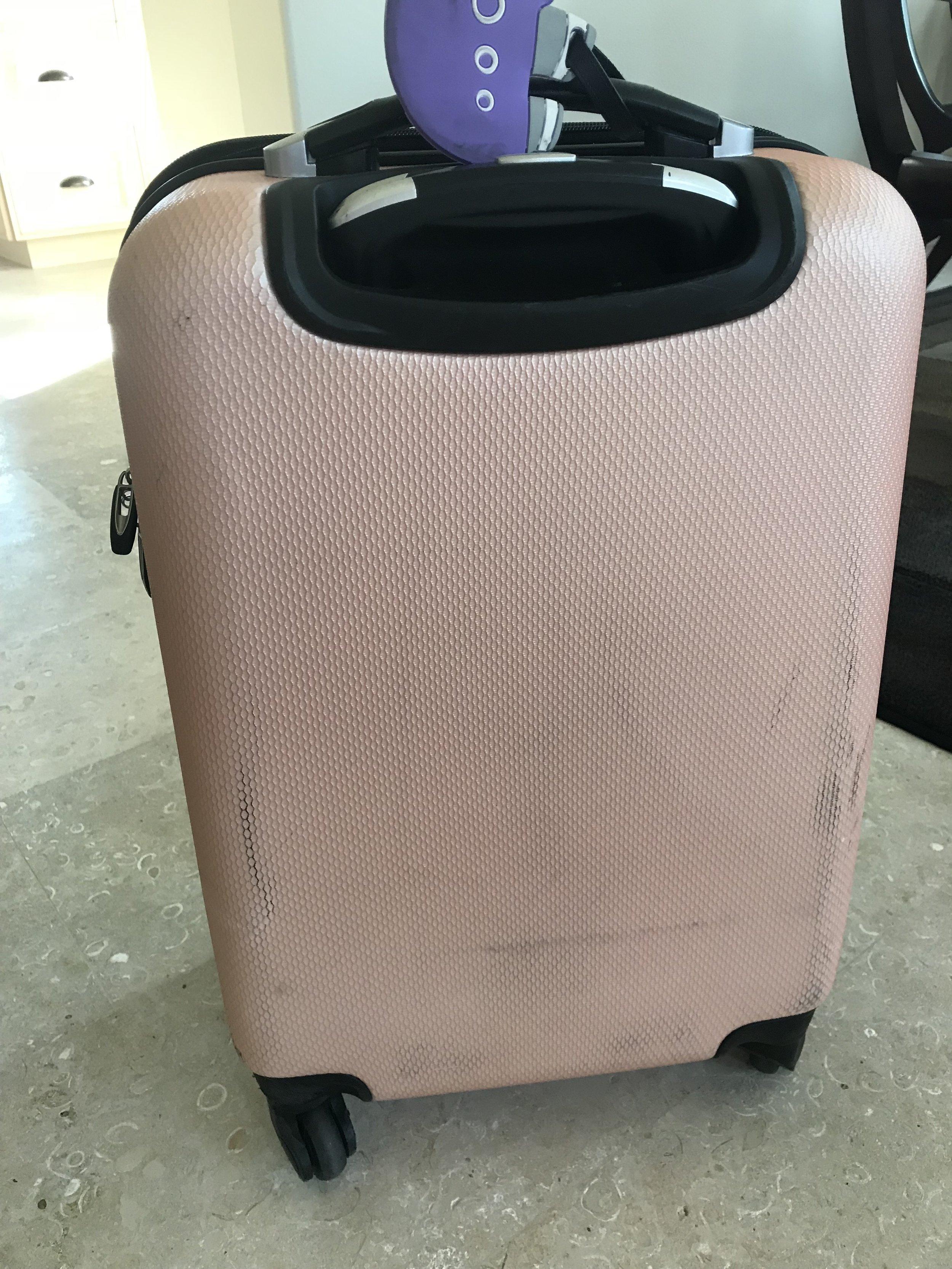 Luggage Before - Scuffs galore