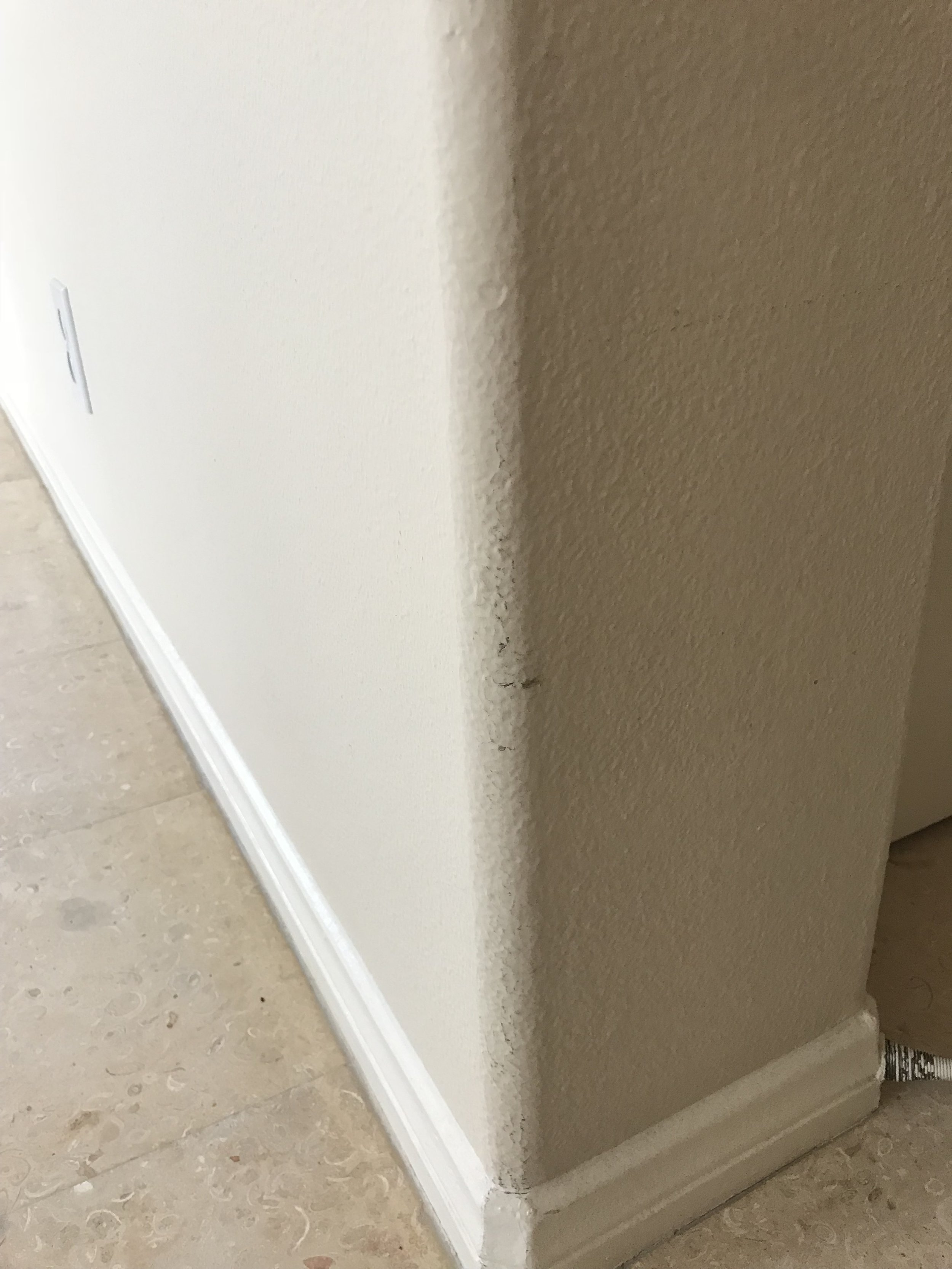 Wall before - Scuffs and stains