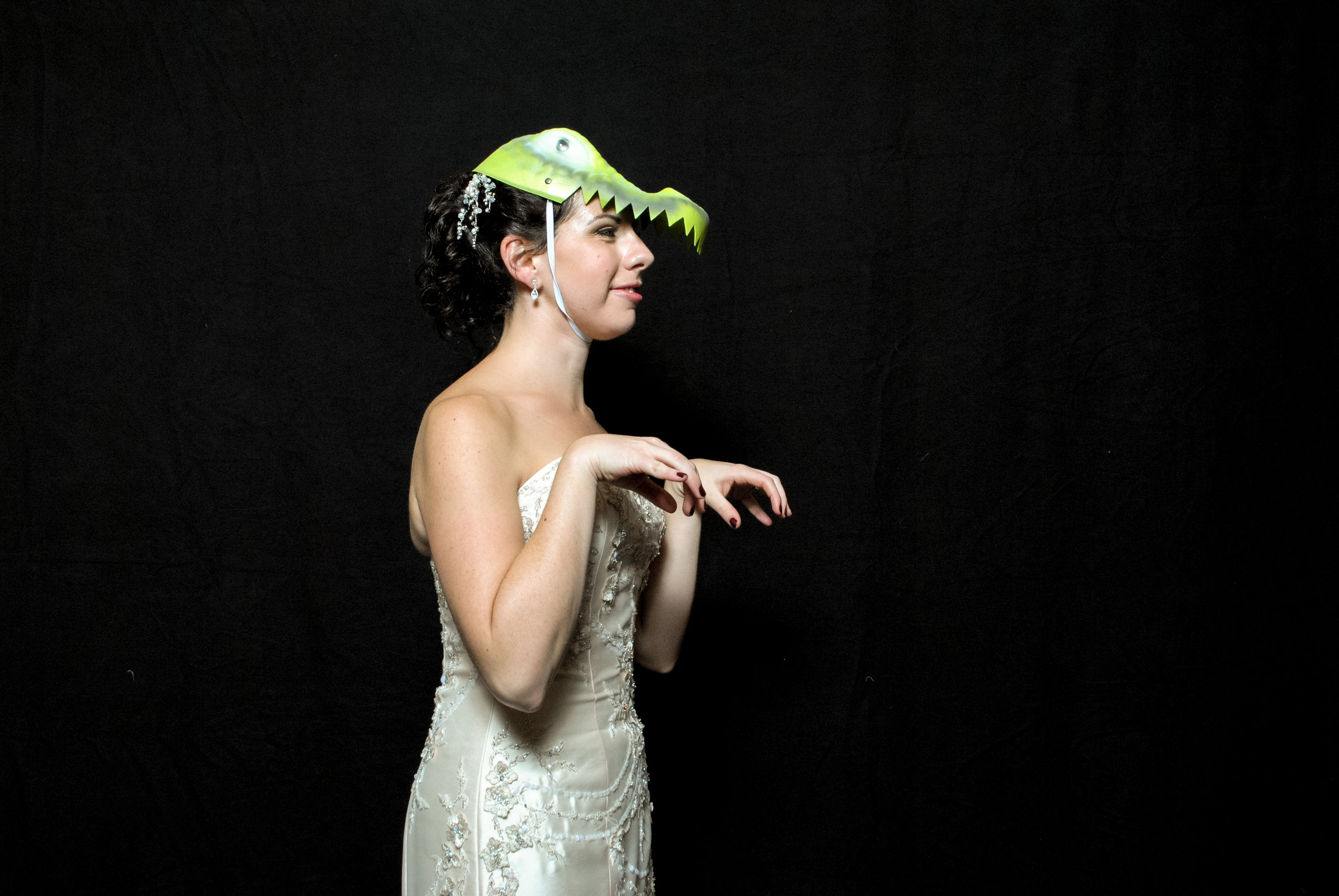 My nickname is T Rex due to my withered, vestigial forelegs. (Aka I can't do pushups.) Even on my wedding this proved true!