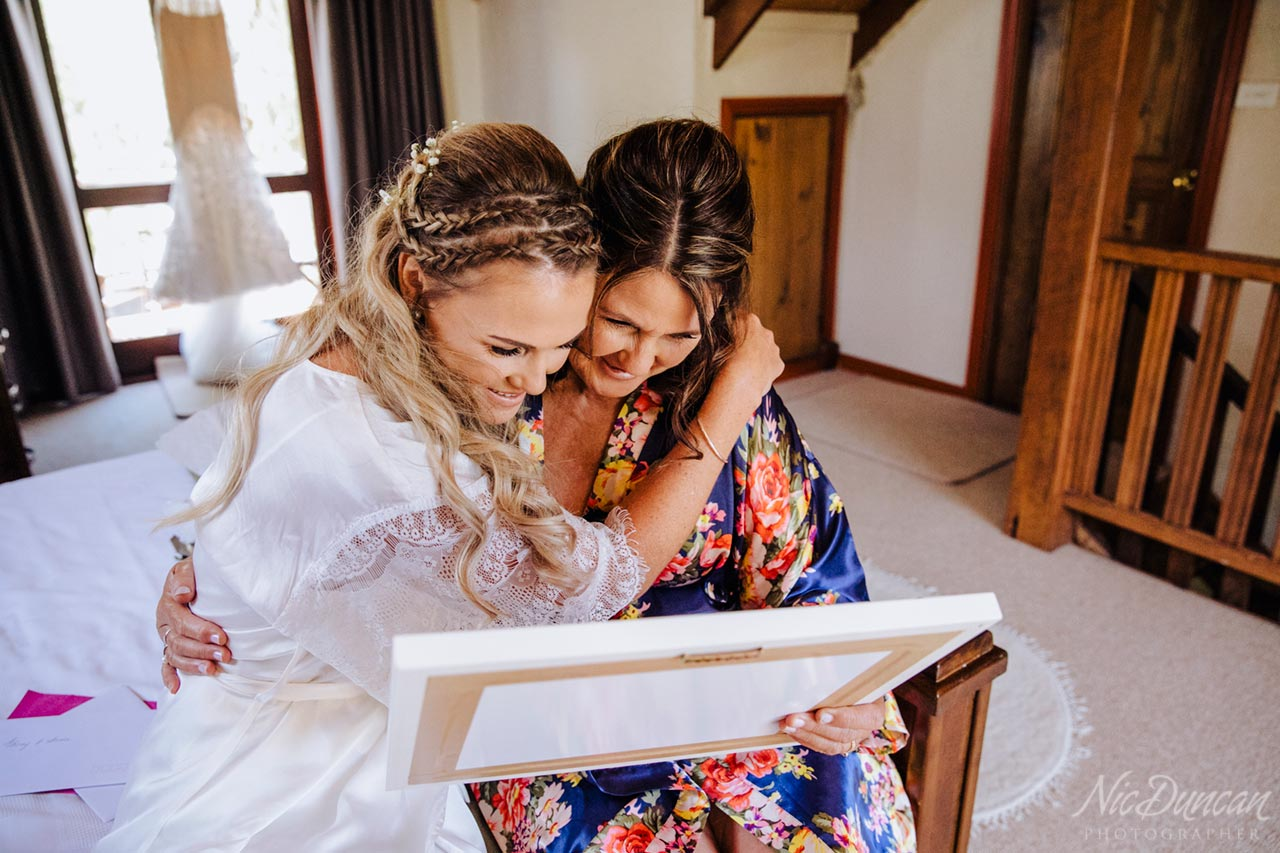 Special moment between bride and her mother
