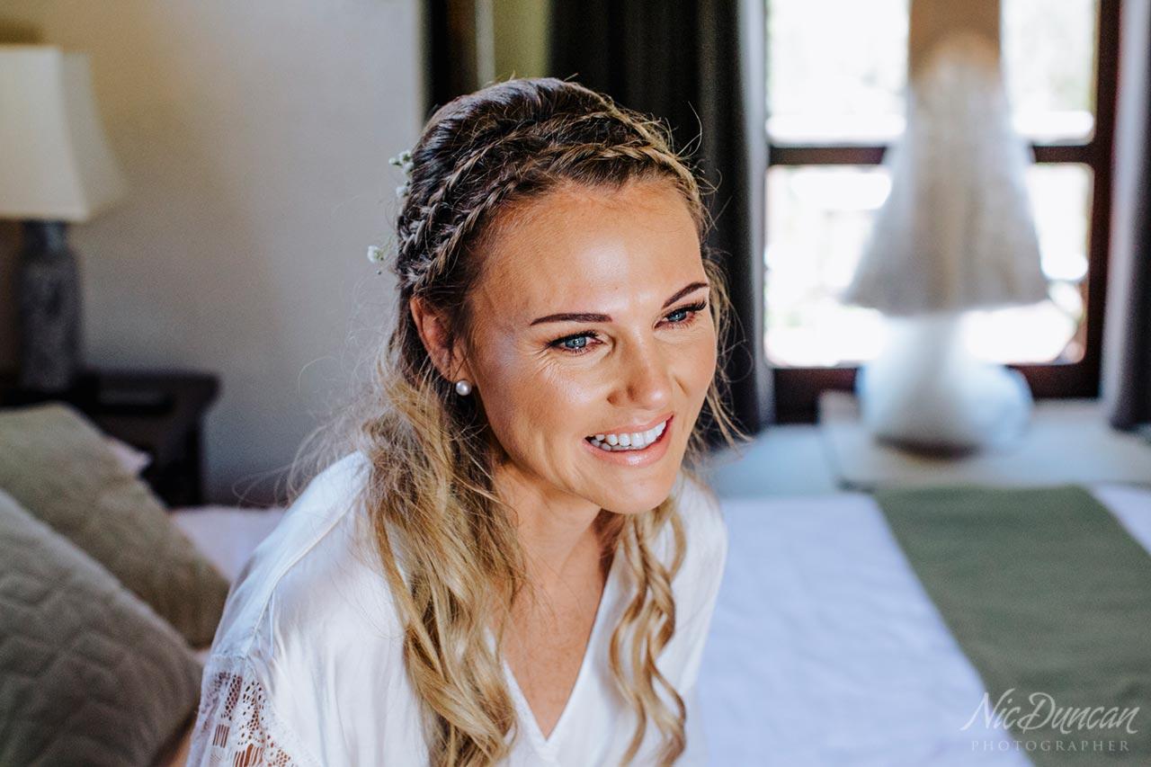 Emotional bride at William Bay Cottages