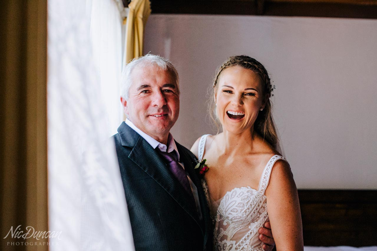Bride with her proud father, Denmark WA