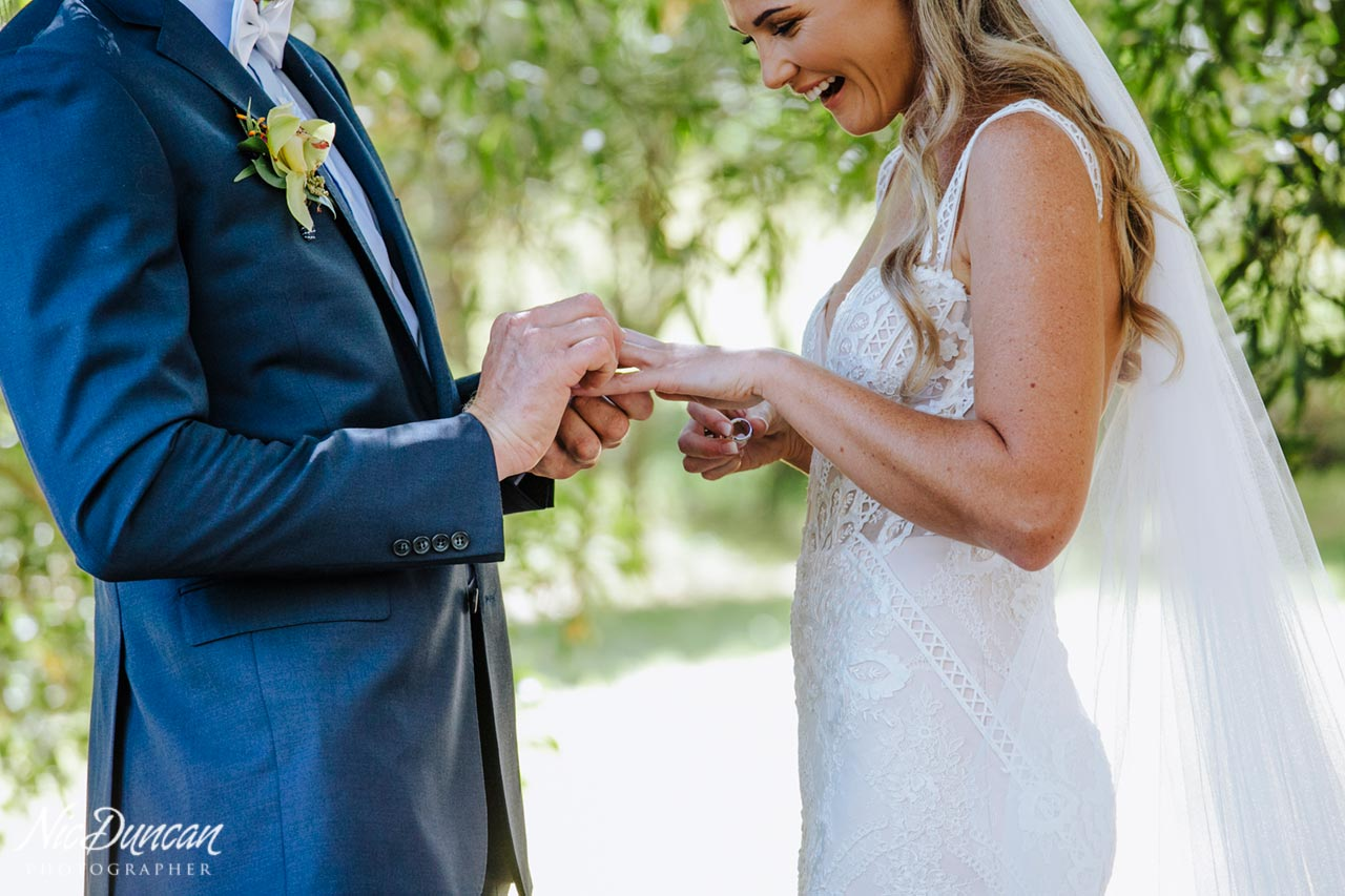 Exchanging rings at a Denmark wedding
