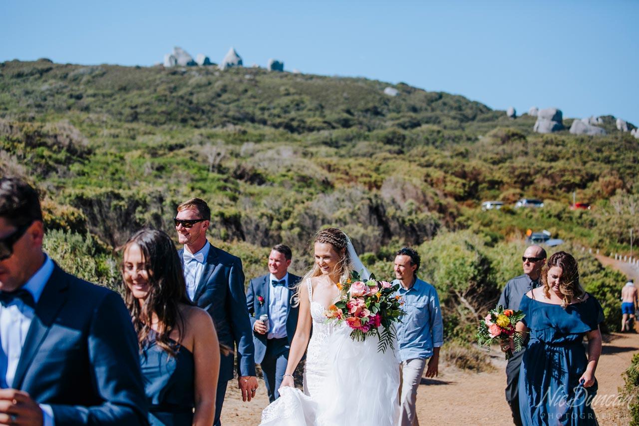 William Bay National Park, Denmark Western Australia, wedding party