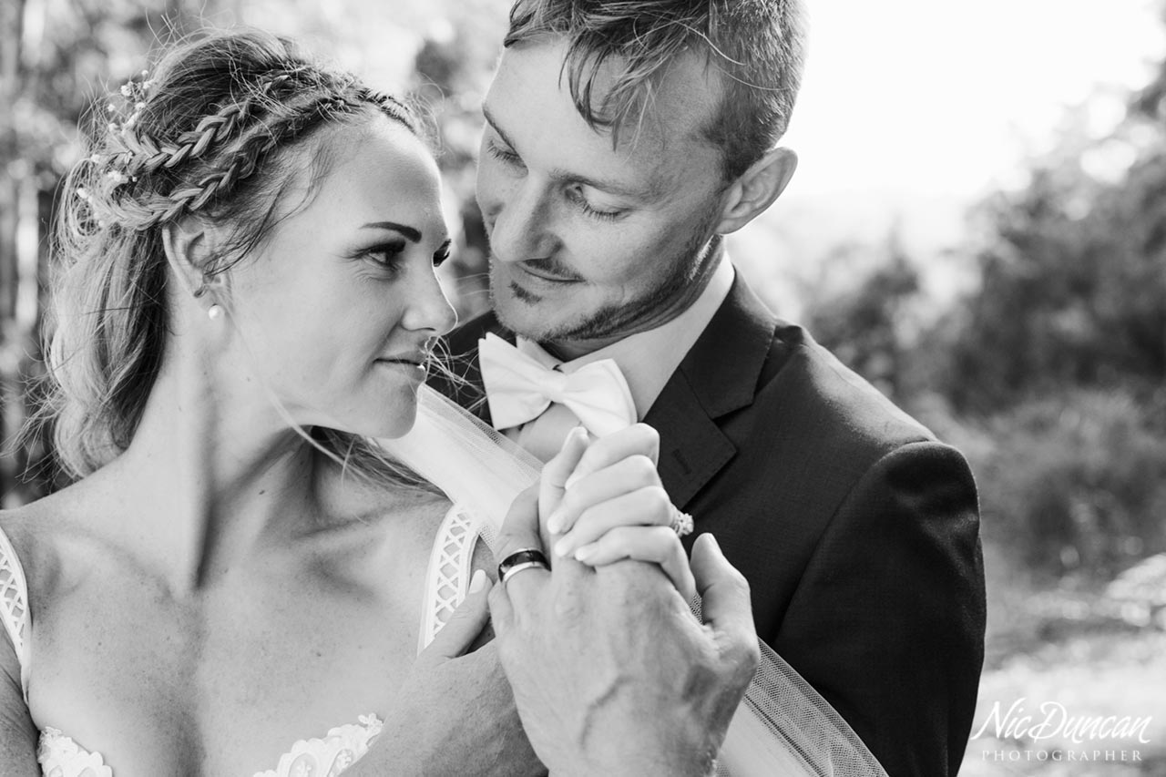 Bride and groom portrait, Great Southern wedding photography