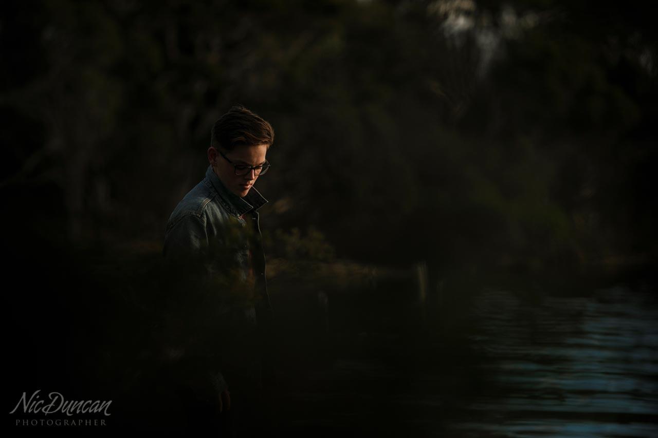 Moody natural light portraiture