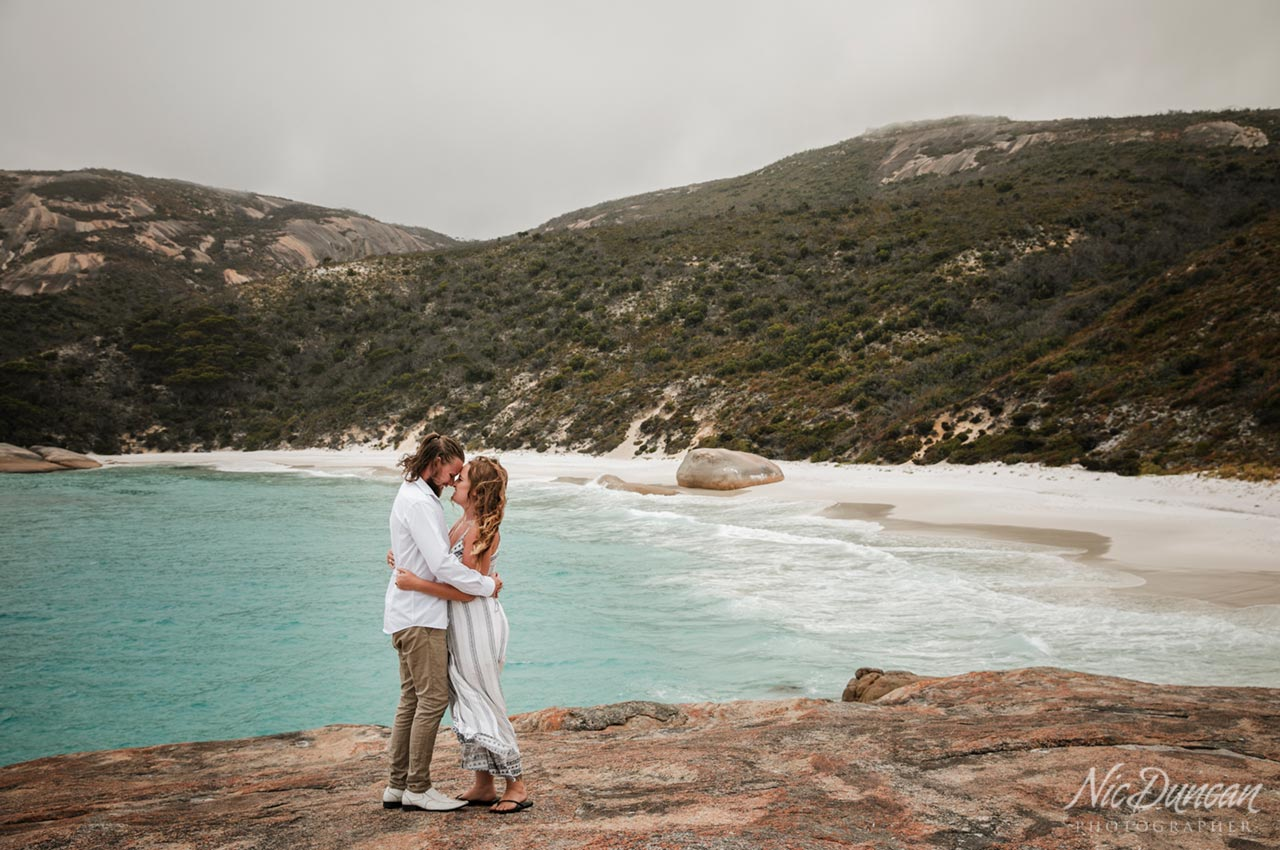 Engagement photo session at Little Beach, Two Peoples Bay