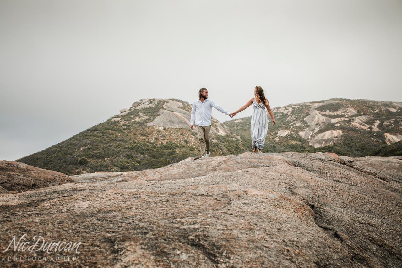 Pre-wedding photo session, Albany Western Australia