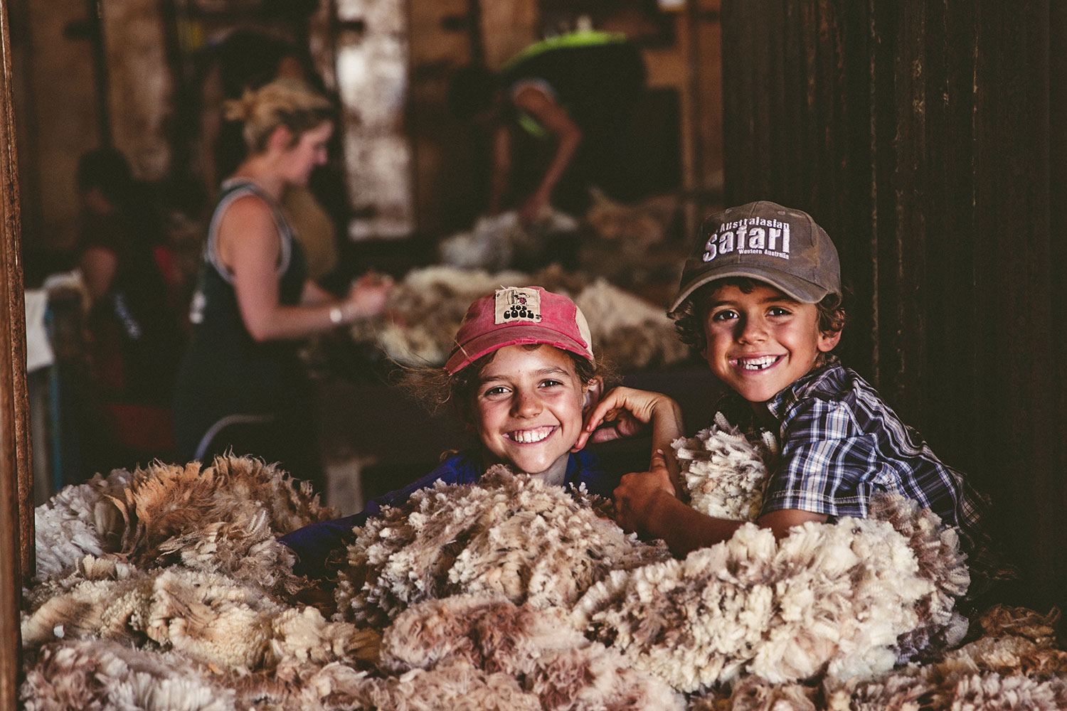 Warroora Station kids at shearing time