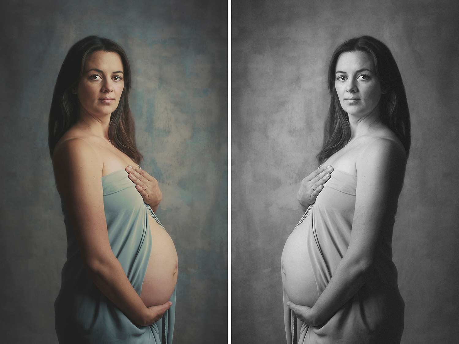 Studio lighting pregnancy session