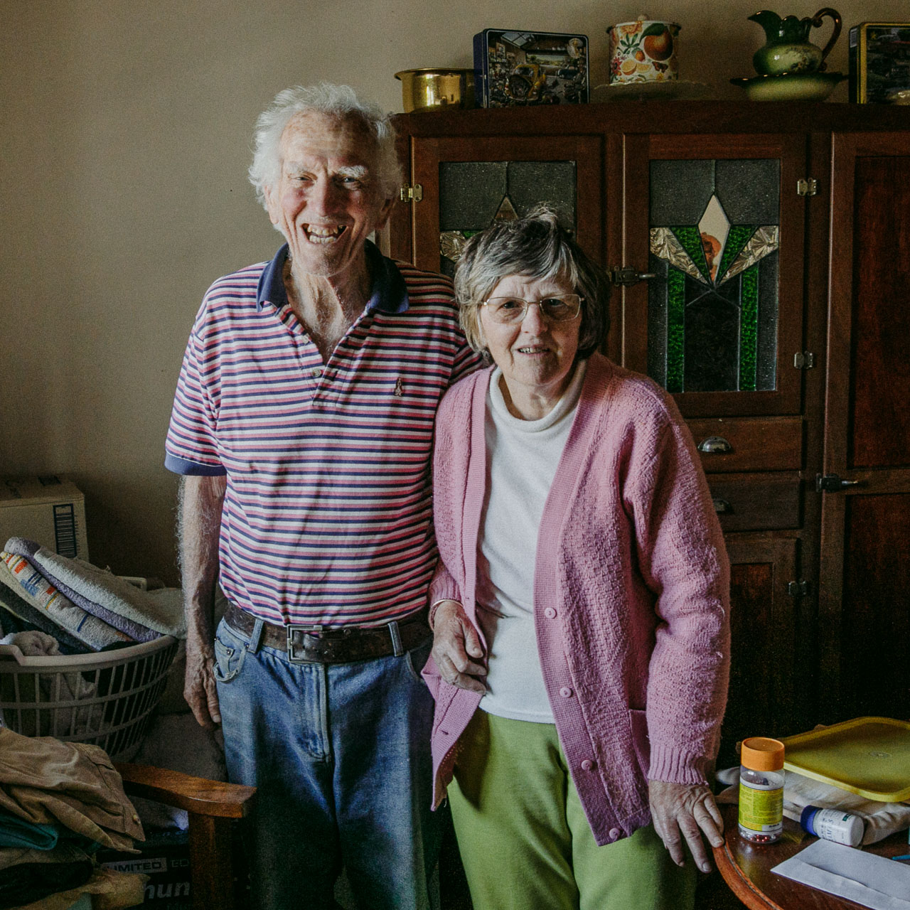 Portrait of an elderly couple for Nic Duncan's Lives Well Lived project