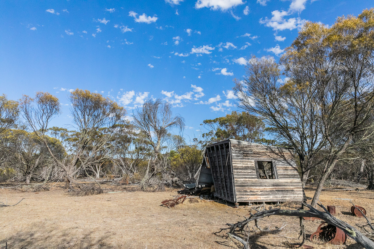 An early settler's shack in the bush, now abandoned