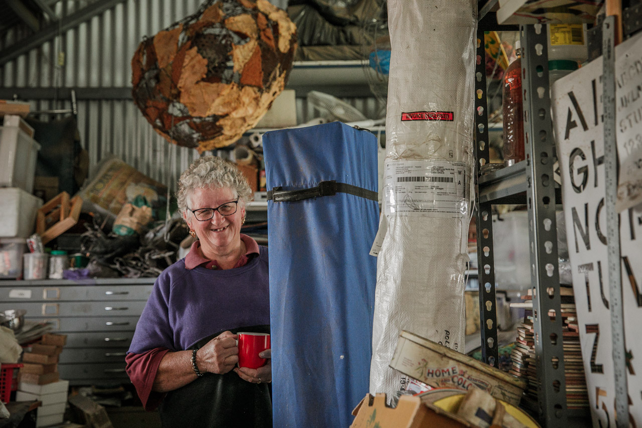 Kerrie Argent in one of her many creative spaces