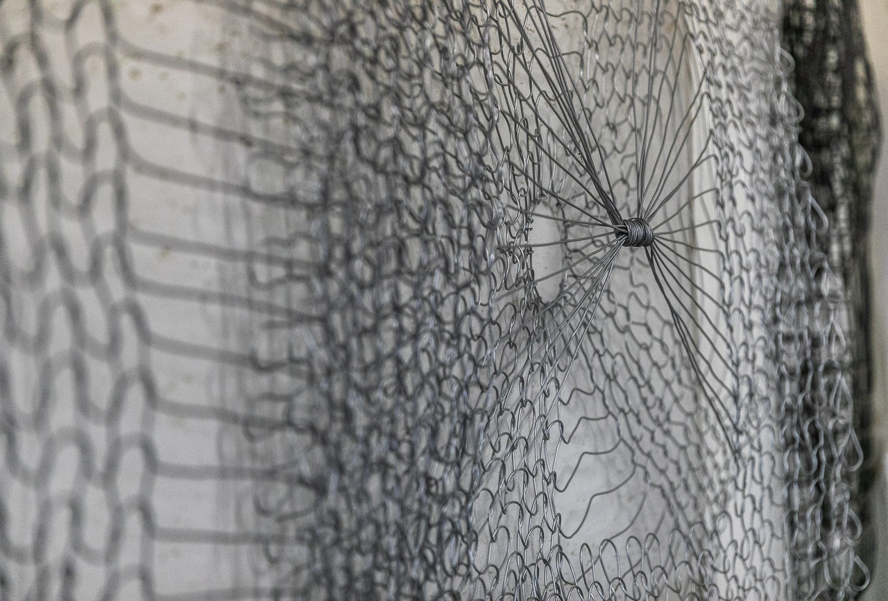 Lake Grace artist Tania Spencer knits with wire to create beautiful art pieces