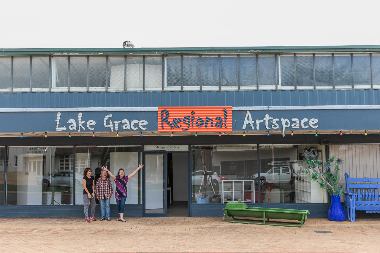 The old supermarket, now home to Lake Grace's artists